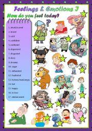 Feelings and emotions worksheet song from kiboomu worksheets