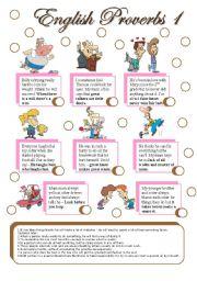 English Worksheet: english proverbs 1