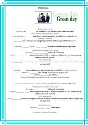 English Worksheet: Song by GREEN DAY:  Basket Case