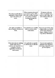 English Worksheets: cultural expectations