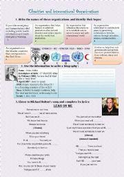 English Worksheets: Charities & International Organizations