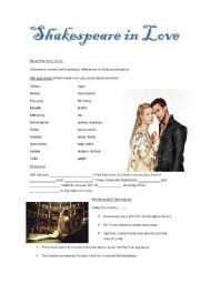 english worksheets shakespeare in love ws3. Black Bedroom Furniture Sets. Home Design Ideas