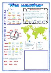 English teaching worksheets: Weather forecast