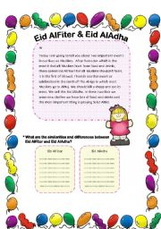 English Worksheets: Eids