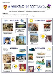 English Worksheet: A weekend in Scotland