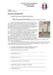The Fox and the Crow - Reading Comprehension