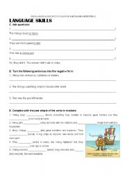 English Worksheet: The Vikings - part2