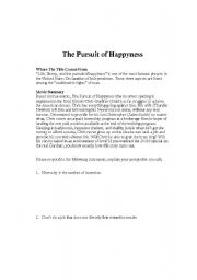 English Worksheet: Pursuit of Happyness, video worksheet