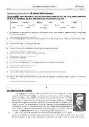 English Worksheet: Television- J. L. Baird - TEST 10th Grade