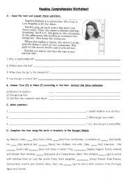 Reading Worksheet - Present Simple