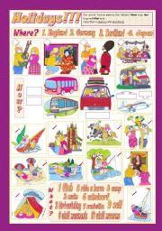 English Worksheets: HOLIDAYS!!!