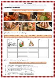 English Worksheet: Video recipe: Rude Boy Kebab (with key)