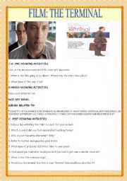 English Worksheets: MOVIE: THE TERMINAL