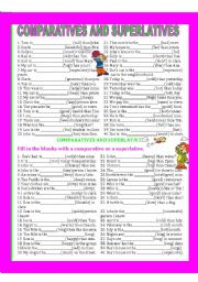 English Worksheets: COMPARATIVES AND SUPERLATIVES