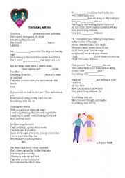English Worksheet: YOU BELONG WITH ME !!! Taylor Swift