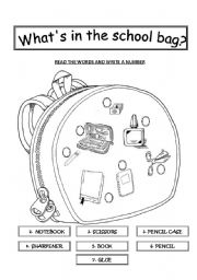 What´s in the school bag