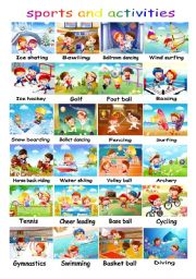 English Worksheets: play or do? with exercise on 2nd page