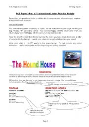 English Worksheets: FCE transactional letters practice activity