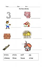 English teaching worksheets: The Three Little Pigs