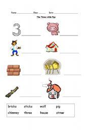 math worksheet : the three little pigs  worksheet by onana : Three Little Pigs Worksheets Kindergarten