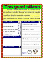 Printables Esl Civics Worksheets esl worksheets for beginners citizenship and civic english worksheet responsibilities reading comprehension uae adec theme