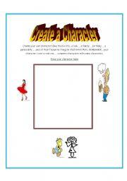 Worksheets Create A Character Worksheet english worksheets create your own character worksheet character