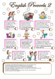 English Worksheet: english proverbs 2