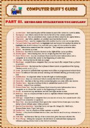 Keyboard/Word Processing Vocabulary (3/4) 3 pges))