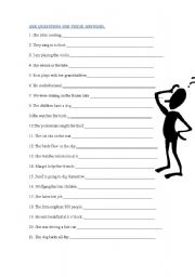 English Worksheets: ASK QUESTIONS