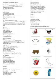 English Worksheets: Taylor Swift - You belong with me