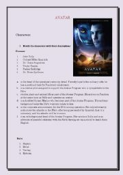 English Worksheet: Avatar