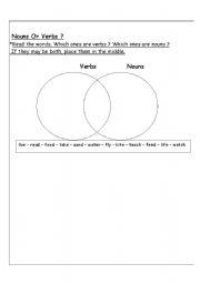 English Worksheets: Noun or Verb ?