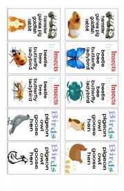 English Worksheet: Animals - card game (2 of 3)