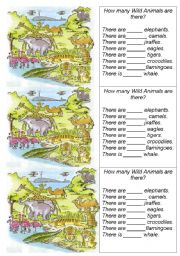 English Worksheet: How many animal can you count?
