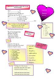 English Worksheets: Song - Lucky - [Jason Mraz]