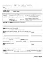 English Worksheets: Catalyze Vocab Sheet