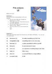 English Worksheets: UP (2009) - Film analysis PART 1