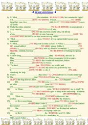 English Worksheet: Tenses Revision.