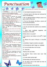 English Worksheet: Punctuation (Comma)