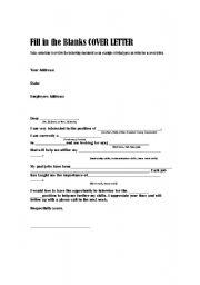 Sample Cover Letter Esl Worksheet By Bramonaj