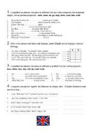 English worksheet: Entry test