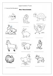 math worksheet : english teaching worksheets the animals : Pet And Wild Animals Worksheet For Kindergarten