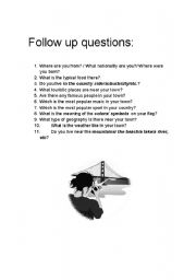 English Worksheets: Interview follow up questions