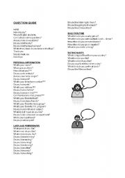 English Worksheets: Interview questions