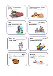 Past Continuous/Past Simple: Speaking and Writing Activity