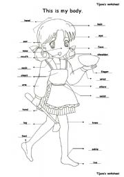 English Worksheets: This is my body.