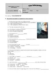 English Worksheets: THE INTERPRETER