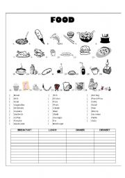 English worksheets food vocabulary english worksheet food vocabulary ibookread Download