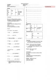 English Worksheets: excercises for help