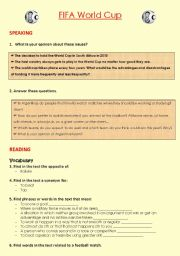 English Worksheet: FIFA World Cup South Africa 2010